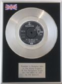 "THE BEATLES  7""  Platinum Disc  -  ALL YOU NEED IS LOVE"